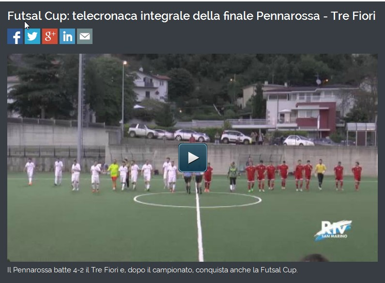 Finale Futsal Coppa Titano 2015